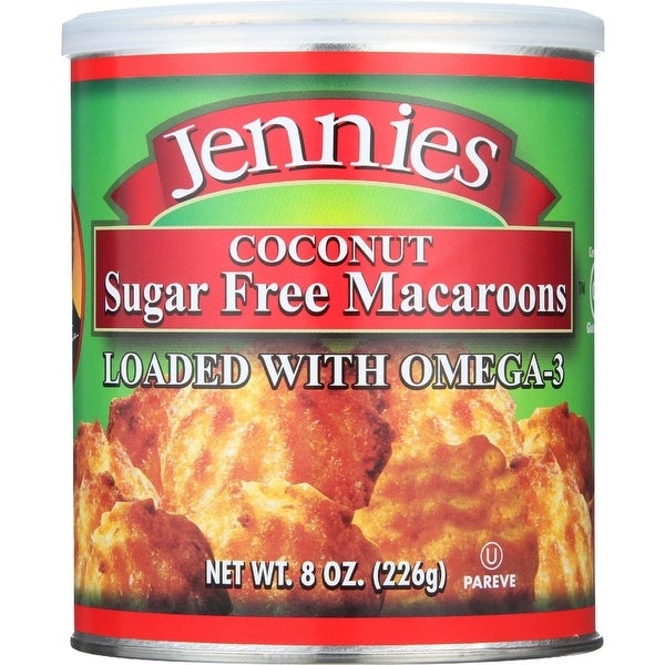 Jennies Macaroons - Coconut - Sugar Free - 8 oz - case of 12