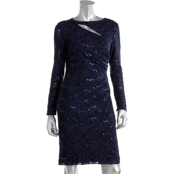 Lauren Ralph Lauren Womens Party Dress Lace Sequined