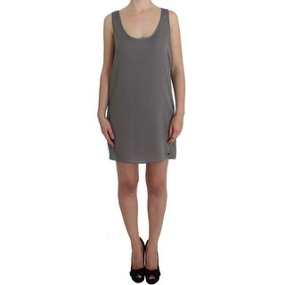 Costume National Gray Stretch Shift Lingerie Dress - it42-m