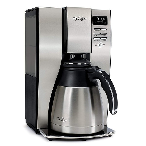 Mr. Coffee Optimal Brew Thermal Coffee Maker, 10 Cups, Stainless Steel