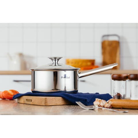 Prime Cook 2.5 qt. Stainless Steel Saucepan with Lid