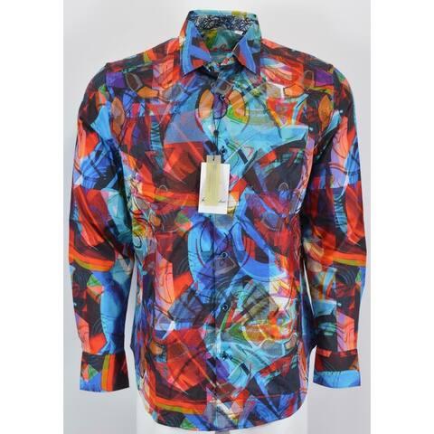 Robert Graham COOK Embroidered Kaleidoscope Sports Shirt
