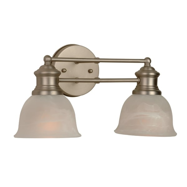 "Craftmade 19812 Lite Rail 2-Light Bathroom Vanity Light - 15.5"" Wide"