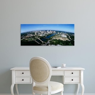 Easy Art Prints Panoramic Images's 'Aerial view of a city, Austin, Travis County, Texas, USA' Premium Canvas Art