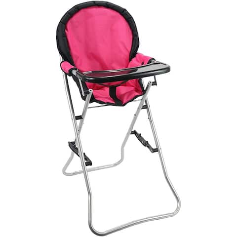 """Mommy & Me Doll Collection High Chair, Pink, 25"""" - 25"""