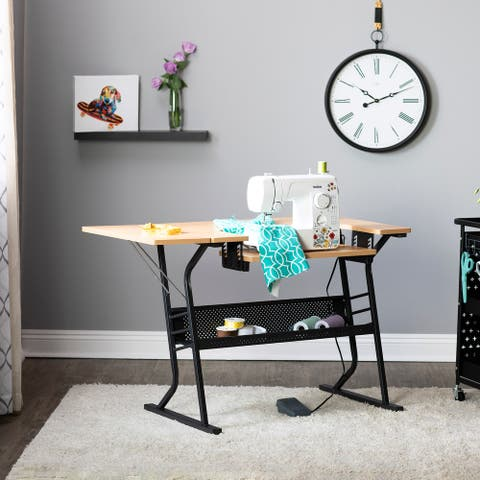 Studio Designs Eclipse Wood Top Sewing and Craft Table
