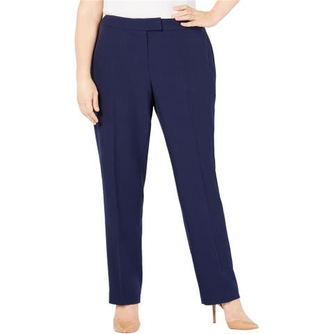 Anne Klein Womens Solid Casual Trouser Pants