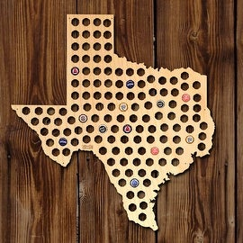 Everything is Bigger in Texas XL Beer Cap Map