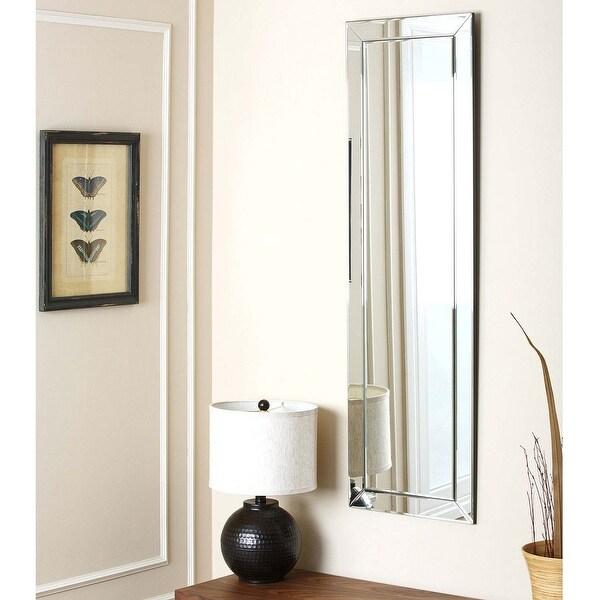 Abbyson Loft Silver Modern Rectangle Wall Mirror. Opens flyout.