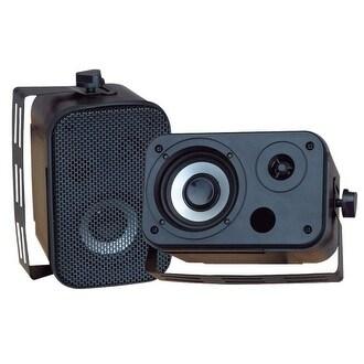Pyle Audio PYLPDWR30BB 3.5- Inch Indoor/Outdoor Waterproof Speakers
