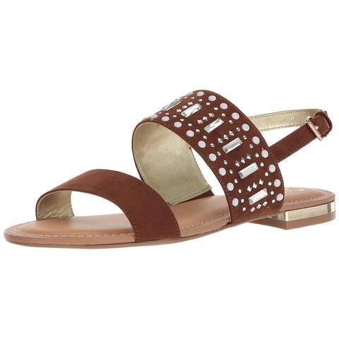 Carlos by Carlos Santana Womens Verity Fabric Open Toe Casual Slingback Sandals