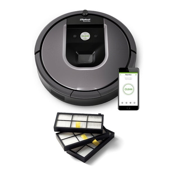 iRobot Roomba 960 Robot Vacuum with Wi-Fi with Roomba Filters (3-Pack)