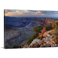 Premium Thick-Wrap Canvas entitled Desert View - Multi-color