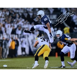 Saquon Barkley Signed 16x20 Penn State Vs Iowa Photo JSA