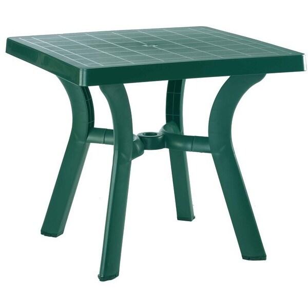 Viva Resin Square Dining Table 31 inch Teak Brown