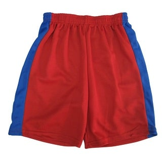 Marvels Little Boys Red Royal Blue Side Stripe Basketball Shorts 4-7