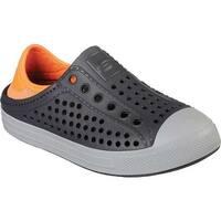 Skechers Boys' Guzman Steps Aqua Surge Slip-On Shoe Charcoal/Orange