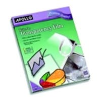 Apollo Write On Transparency Film, 100 Sheets