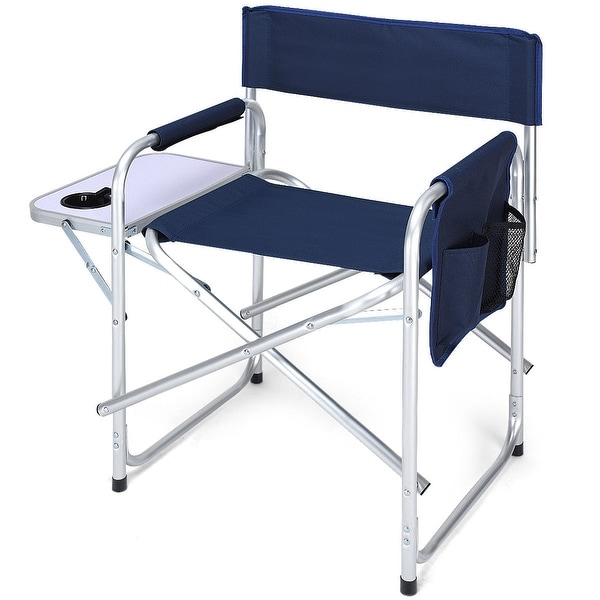 Shop Costway Folding Director S Chair Side Table Outdoor