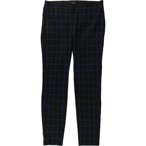 Alfani Womens Windowpane Casual Trousers