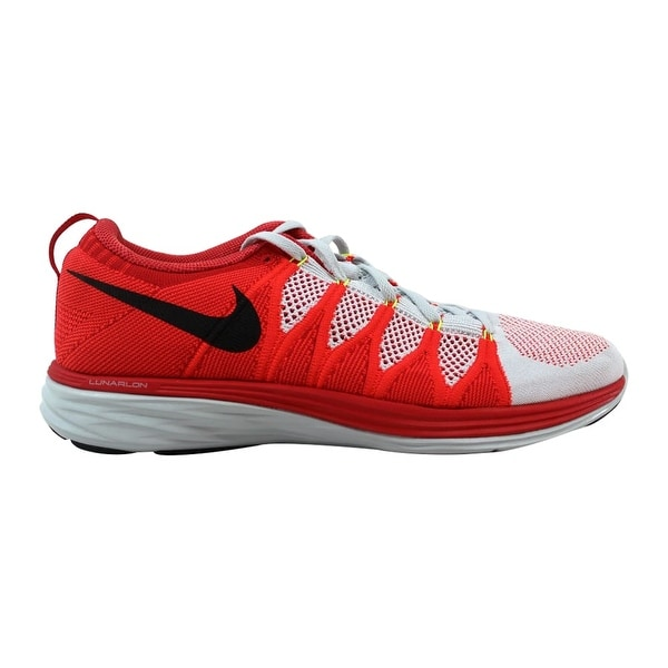 the best attitude aed7a ce247 Nike Flyknit Lunar2 Pure Platinum Black-Bright Crimson-University Red  620465-006