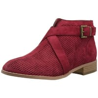Brinley Co Womens REVEL-NUD-060 Suede Round Toe Ankle Fashion Boots