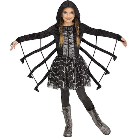 Girls Sparkling Spider Halloween Costume
