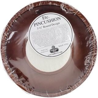 """Mahogany Round Pincushion Tray 7""""-Design Area 3.75"""""""