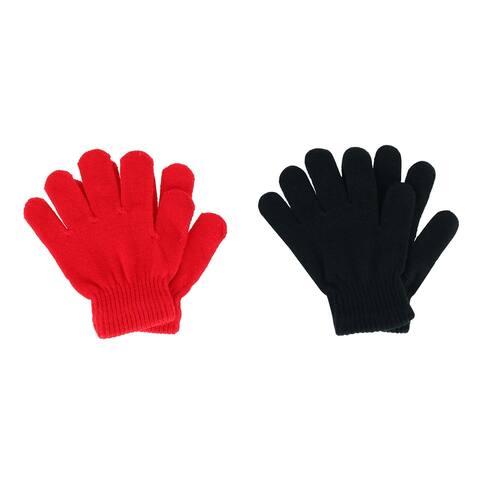 Polar Extreme Kids' Basic Solid Gloves (2 Pack)