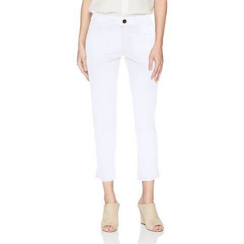 Jag Jeans Womens Creston Jeans White Size 2 Mid-Rise Ankle-Leg Cropped