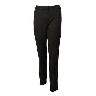 Jones New York Women's Faux Suede Trim Stretch Dress Pants - 4