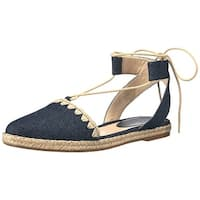 Nine West Women's Unah Denim Pointed Toe Flat