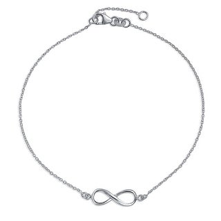 Bling Jewelry Sterling Silver Infinity Figure Eight Anklet Bracelet 9in