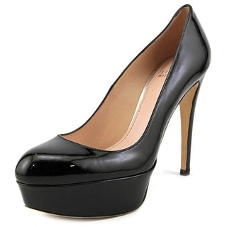 Stuart Weitzman Mae Women  Open Toe Patent Leather Black Platform Heel