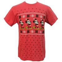 Disney Mickey Mouse Men's Far Isle Christmas Holiday T-Shirt