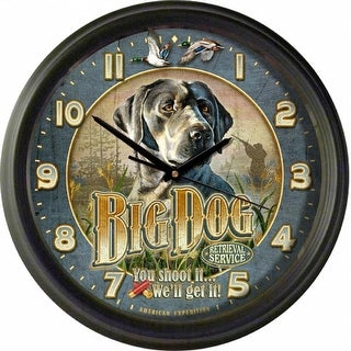 American Expedition Vintage Big Dog Retrieval Service Clock - WCLK -437