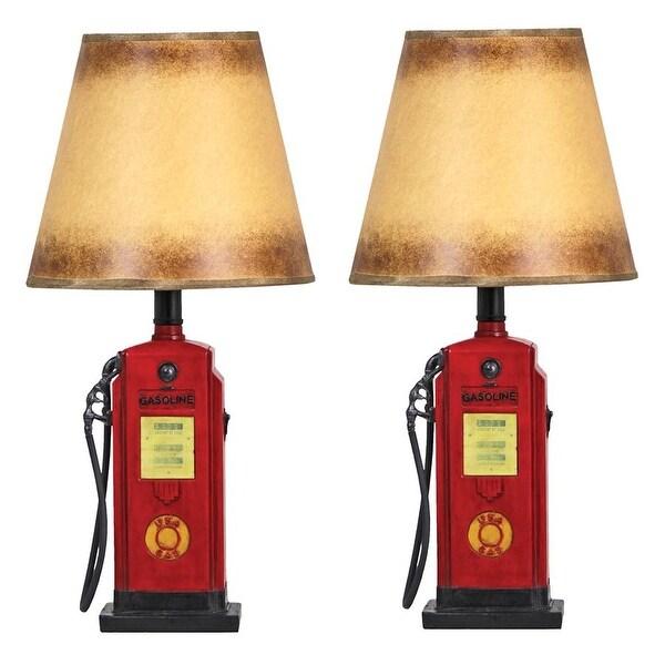Design Toscano Retro Gasoline Pump Table Lamp Set Of Two Free