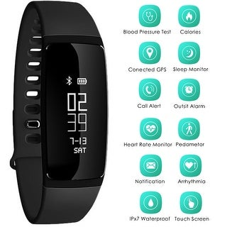 Link to AGPtek Waterproof Sports Watch Bluetooth OLED Display for IOS Android Smartphone - M Similar Items in Activity Trackers & Pedometers