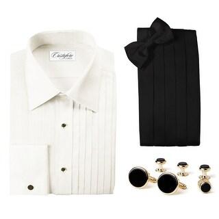 Elegant Tuxedo Package -Ivory Laydown Collar