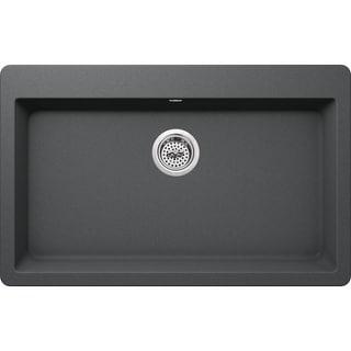 "Miseno MGR3321 Carolina 33"" Single Basin Drop In or Undermount Granite Composite Kitchen Sink - Basket Strainer Included"