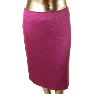 Tahari Womens Plus Meiling Textured Knee-Length Straight Skirt