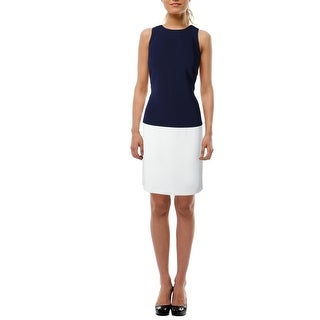 Lauren Ralph Lauren Womens Wear to Work Dress Colorblock Sleeveless