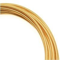 Artistic Wire, Copper Craft Wire 16 Gauge Thick, 10 Foot Spool, Tarnish Resistant Brass