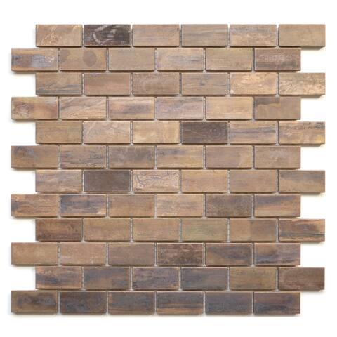 Medium Brick Antique Copper Tile 11.8x11.8 (11 tiles/10.63 Sqft)