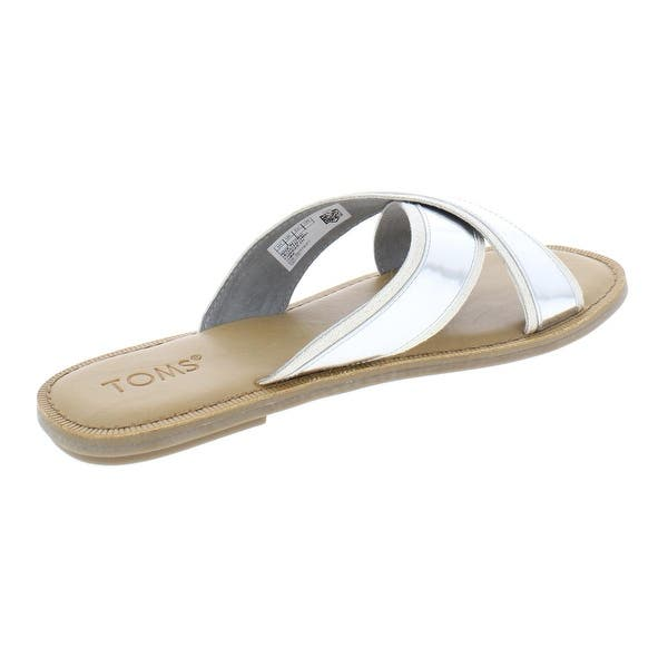 Details about  /Toms Womens Val Suede Strappy Slide On Flat Sandals Shoes BHFO 7952
