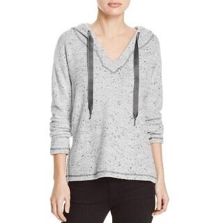 Splendid Womens Pullover Sweater Marled Hooded