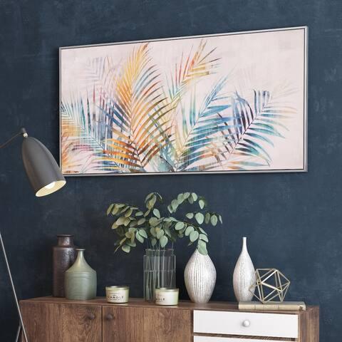 Vibrant Palm Framed Canvas