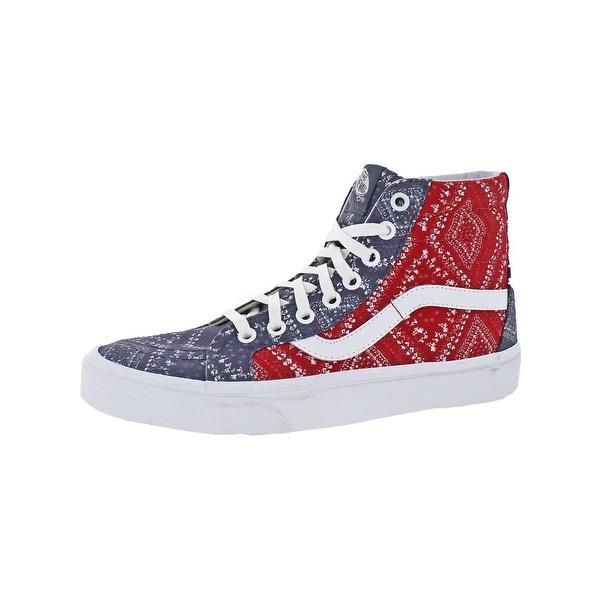 9adb991c25e5 Vans Mens SK8-Hi Reissue High Top Sneakers Skate Ditsy Bandana - 6 medium (