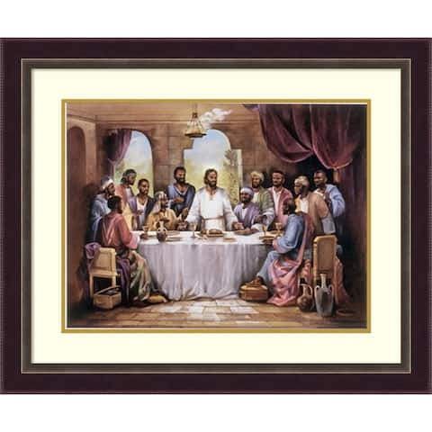 Framed Art Print 'The Last Supper' by Quintana 35 x 29-inch