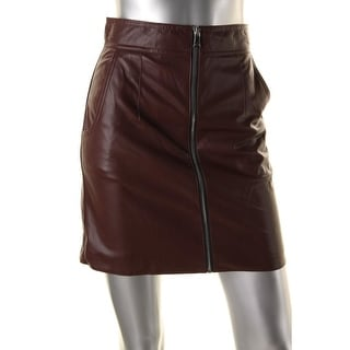 French Connection Womens Atlantic Mini Skirt Faux Leather High Waist